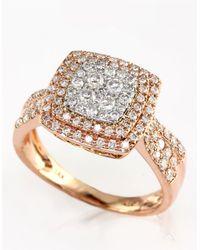 Effy | Metallic Diamond 14k White And Rose Gold Ring, 0.75 Tcw | Lyst