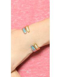 Madewell - Metallic Long Stone Cuff Bracelet - Vintage Gold - Lyst
