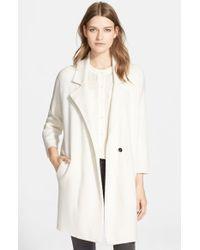 Autumn Cashmere White Double Face Knit Car Coat