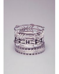 Bebe - Black Tribal Inspired Bangle Set - Lyst
