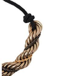Lanvin - Metallic Antique Brass Necklace - Lyst