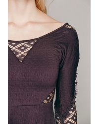 Free People Purple To The Point Fit & Flare