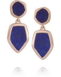 Monica Vinader | Blue Atlantis Rose Goldplated Lapis Lazuli Earrings | Lyst