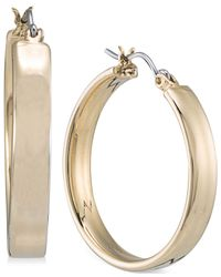 Carolee | Metallic Gold-Tone Oval Hoop Earrings | Lyst
