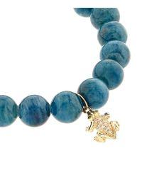Sydney Evan | Mini Frog Blue Apatite Bracelet | Lyst