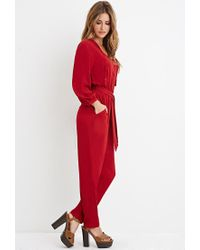 Forever 21 - Red Self-tie Tasseled Jumpsuit - Lyst