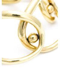 Vaubel | Metallic Overlapping Oval Ring Bracelet | Lyst