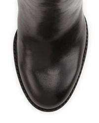 Sam Edelman - Black Rylan Leather Knee-high Boots - Lyst