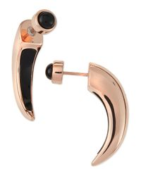 Pamela Love Black Onyx Inlay Horn Earrings