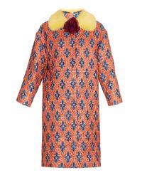 Gucci Multicolor Matelassé Losanga Jacquard Coat