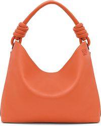 Loewe | Orange Hobo Leather Tote Bag Large | Lyst