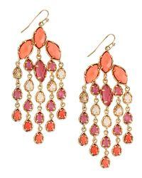 Kendra Scott | Red Marquis & Pear Chandelier Earrings | Lyst