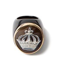 Amedeo | Black Crown Onyx Ring | Lyst