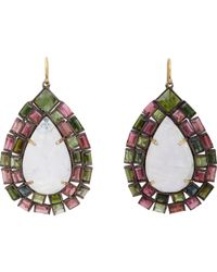 Nak Armstrong - Multicolor Gemstone Drop Earrings-colorless - Lyst