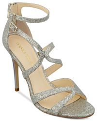 Ivanka Trump | Metallic Hotis Strappy Dress Sandals | Lyst