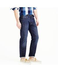 J.Crew Blue 1040 Slim-straight Japanese Selvedge Jean In Dark Indigo Wash for men