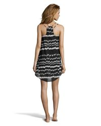 Vitamin A | Black And Grey Patterned 'rocha' Slip Dress | Lyst