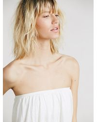 Free People - White Womens Under The Sea Tube Top - Lyst