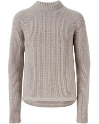 DSquared² - Natural Ribbed Sweater for Men - Lyst