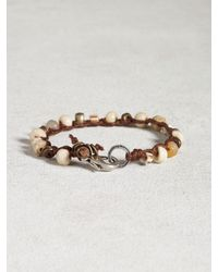 John Varvatos | White Bone & African Trade Bead Bracelet for Men | Lyst