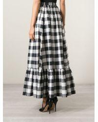 Dolce & Gabbana - Black Long Check Skirt - Lyst