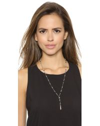 Chan Luu - Beaded Lariat Necklace - Black Mix - Lyst