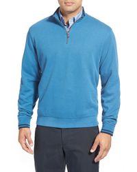 Cutter & Buck | Blue 'heritage' Quarter Zip Pullover for Men | Lyst