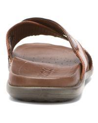 Ecco | Brown Chander Cross Slide Sandal for Men | Lyst