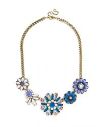 BaubleBar - Crystal Firecracker Strand-Blue/Antique Gold - Lyst