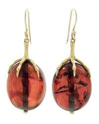 Annette Ferdinandsen | Red Amber Egg Earring | Lyst
