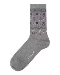 Falke | Gray Russian Doll Ankle Socks | Lyst