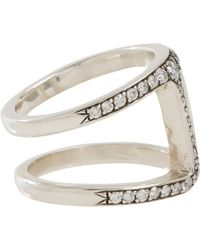 Hoorsenbuhs Metallic Diamond Sterling Silver Dame Phantom Ii Ring