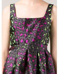 Christopher Kane Green Leopard Jacquard Princess Dress