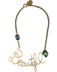 Lanvin | Blue Beautiful Pendant Necklace | Lyst