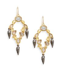 Alexis Bittar | Metallic Elements Phoenix Labradorite & Swarovski Crystal Chandelier Drop Earrings | Lyst