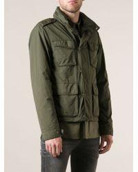 Aspesi Green Military Style Jacket for men