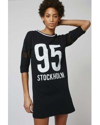 TOPSHOP | Black Stockholm Tee Dress | Lyst