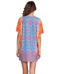 Nanette Lepore - Multicolor Short Sleeve Jersey Tunic in Blue - Lyst