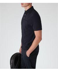 Reiss | Blue Watkins Pocket Polo Shirt for Men | Lyst
