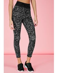 Missguided | Active Monochrome Print Gym Leggings Black | Lyst