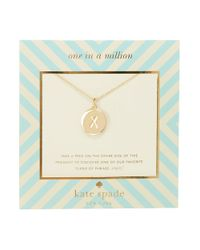 Kate Spade | Metallic One In A Million Letter X Pendant Necklace | Lyst