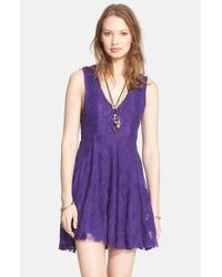 Free People Purple 'reign Over Me' Skater Dress