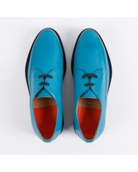 Paul Smith | Blue Men's Turquoise Buffalino Leather 'nico' Shoes for Men | Lyst