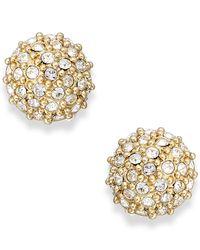 kate spade new york | Metallic Crystal Pavé Ball Stud Earrings | Lyst