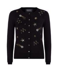 Markus Lupfer - Black April Constellation Embellished Cardigan - Lyst