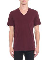 James Perse Purple V-neck T-shirt for men