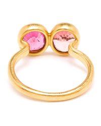 Marie-hélène De Taillac Pink 18Kt Gold Spinel Duet Ring
