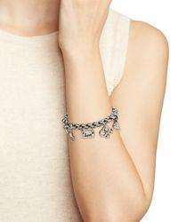 Uno De 50 | Metallic Love Charm Bracelet | Lyst