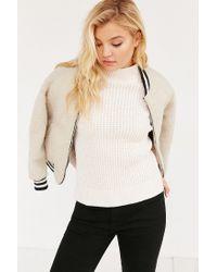 BDG | Pink Waffle Stitch Mock-neck Sweater | Lyst