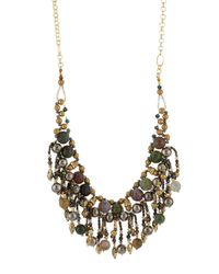 Nakamol | Multicolor Agate & Crystal Beaded Fringe Bib Necklace | Lyst